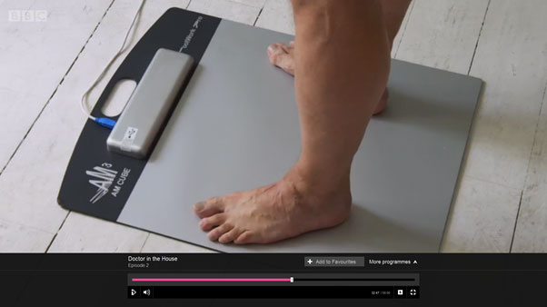 Footwork Pro Pressure Plate featured on BBC1's Doctor in the House