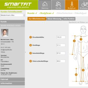 Bike Fitting Software Screen Shot