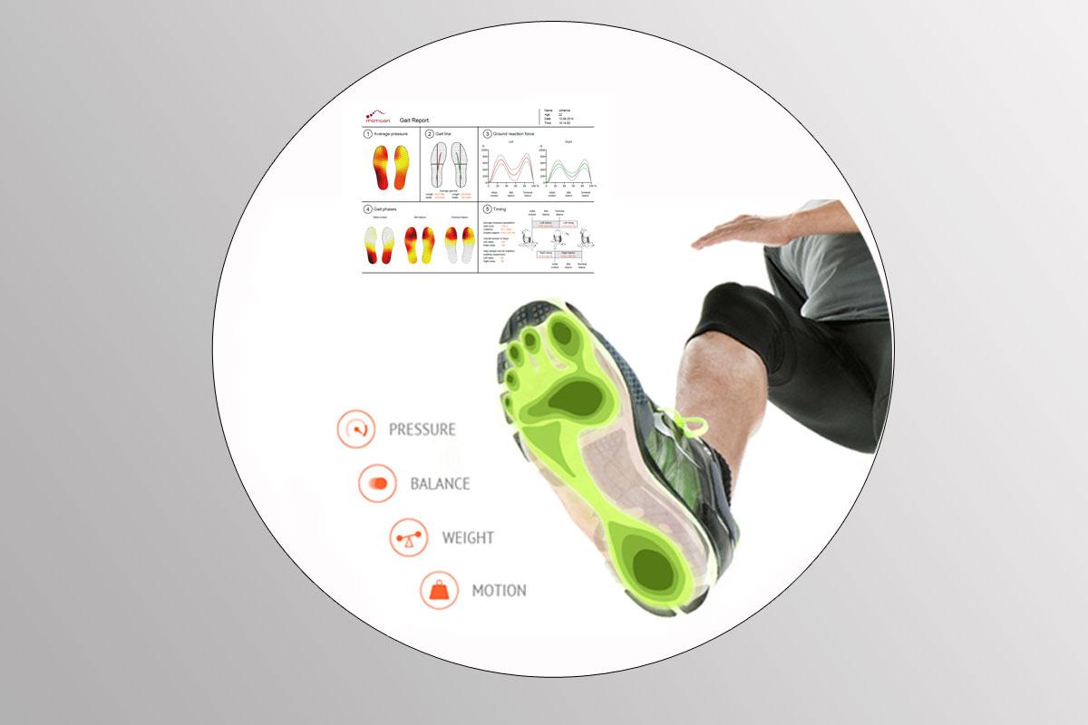 In shoe pressure measurement